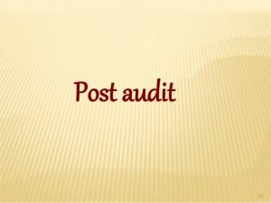 post audit